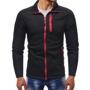 New Men Casual Hoodies Autumn Brand Male Long Sleeve Solid Hoodie Zipper Sweatshirts Men Black Red Big Size Sudaderas Para Hombre Hot SALE