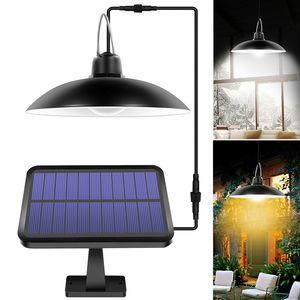 2020 Новый солнечный свет Shed Крытый 16 LED солнечный свет подвеска лампа для кемпинга Водонепроницаемый освещение для сада Yard украшения