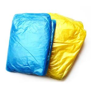 Disposable PE Raincoat Adult One-time Emergency Waterproof Hood Poncho Travel Camping Must Rain Coat Outdoor Rainwear