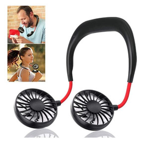 2020 new arrival USB Hanging Neck Fan Rechargeable neckband fan for Sports Home Office Travel Small Portable Sports 360 Degree Rotating