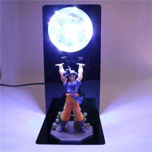 Dragon Ball Z Figuras de acción de la lámpara LED muñecas Goku Hijo de figuras coleccionables de bricolaje Animado Modelo de bebé para niños de los niños de Navidad Juguetes Y200104