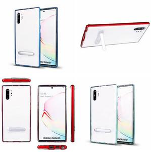 Iphone 11 PRO MAX 2019 Samsung Galaxy NOT için 10 Bumblebee Yumuşak TPU PC Kasa Hibrid İnce Tampon Temizle Renkli Cilt Kapak Telefon Luxury Standı