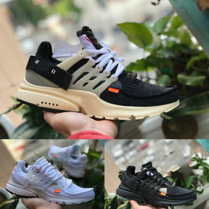 2020 Nike Air Max Presto Airmax White Prestos Shoes OFF Noir Blanc X Sports Chaussures pas cher Designer Air Cushion prestos Femmes Hommes Runner Entraîneur Sneakers
