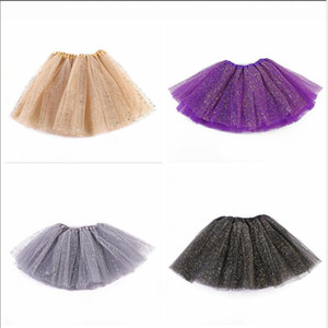 Kids Tutu Skirts Baby Girls Sequin Mesh Princess Mini Dress Tulle Pettiskirt Ballet Costume Clothes Ball Gown Skirt Party Stagewear CYP647