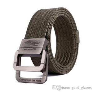 Nuove cinture di tela Uomini Donne Designer di marca Lettera fibbia Cintura di moda maschile oro argento Mens vendita online