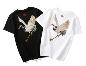 Man s işlemeli tişörtler, yaz kısa Tops, gündelik giyim, Çin tarzı moda Sokak hip hop Tee, R1M810TS-13-020 kollu