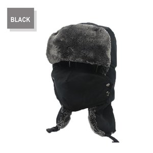 Sport caps Hiking Caps Scarf Men Russian Trapper Thermal Hat Trooper Earflap Snow Ski Hat Cap with Fack Mask