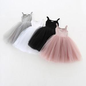 Baby Tüll Riemen-Kleid Kinder Straps Mesh-Tutu Prinzessin Kleider Nette Luftblasen-Rock Kinder-Ballettrock-Sommer-Gaze-Kleid CZ224