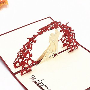 Valentine Tag Hochzeit Karten Einladungen Delikat Geschenk Handgemachte kreative 3D-Karten UP Geschenk anpassbare 10X15CM DHL