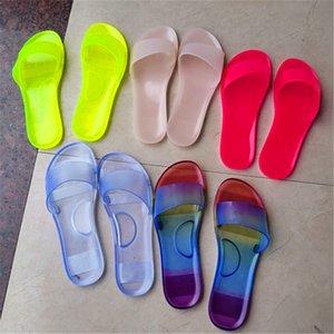 Women Crystal Sandals Summer Slippers Solid Color Flip Flops Fashion Platform Flat Slide Slipper Outdoors Beach Home Shoes Best Sale