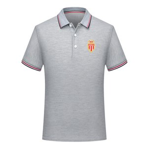 2020 в монако ФК мужского футбола рубашка поло Спорт Polo футбол польос лето Активного футбол с коротким рукавом Поло T-Shirt Трикотажных мужского Polos