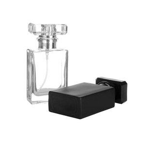 Un nuevo tipo 30ml claras y Negro Repuesto cristal del aerosol Botellas de perfume recargable de cristal Automizer Vacía envase cosmético para el recorrido LX1617