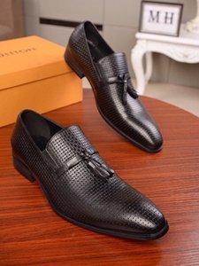 Herrenmode Stricken feste Farbe Freizeitgeschäft Kleidschuhe runden Kopf bequeme flache Schuhe
