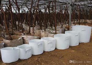 10 Options de taille Non-tissé Tissu réutilisable à haute souplesse pour une plante très respirante Cultiver un sac de pots Sac de plantation avec poignées Grande jardinière de fleurs
