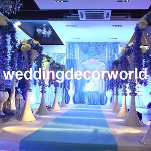 ديكور أعمدة الزفاف أعمدة معدنية الذهب عرس زهرة تقف باقة ديكورات المركزية إناء decor707