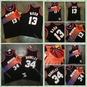 Uomini P3 Steve Nash Charles Barkley 34 Mitchell Ness nero 1992-1993 1996-1997 Hardwoods Classics Swingman Jersey