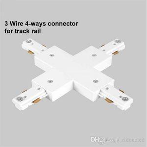 LED Parça Raylı Bağlayıcı Düz Konnektörler Spot Işık Takip Montaj için 3 Tel Raylı Bağlayıcı Raylı Joiner Parça Aydınlatma