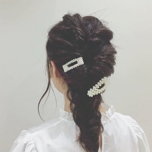 Moda gioielli 2019 coreano capelli clip a buon mercato all'ingrosso personalizzato yiwu fabbrica fantasia perla capelli clip di capelli pin