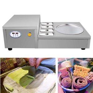Certificati CE 220V 110V singolo round in acciaio inox fritto macchina per il gelato la macchina migliore crema fritta di ghiaccio di qualità in vendita