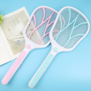 Multi-Functional LED Lighting USB Charging Electronic Mosquito Swatter Bug Zapper Racket Insects Killer Home Bug Zappers 2 Color