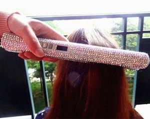 2019 أحدث الثور 105 الكريستال الحديد المسطح البريق 2 في 1 بلينغ الماس صحة الأم والطفل المهنية أدوات تصفيف الشعر الضفر مستقيم
