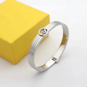 Leisure Travel dell'argento dell'acciaio inossidabile amicizia braccialetto donne gioielli braccialetto amore dal design di lusso bracciali in oro rosa f BRACCIALI