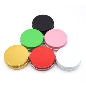 2 oz 60ml de boîtes de conserve en aluminium rond multicolore Couvercle à vis en métal Boîtes Pots Slip vide Toboggan conteneurs LX2657