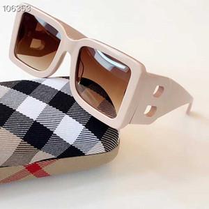 2020 nouvelle saison femme designer lunettes de soleil cadre de plaque carrée grandes jambes double lettre B verres UV400 simples de style de la mode 4312 avec boîte