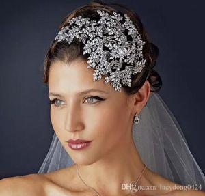 Novo casamento nupcial cristal strass prata rainha de prata headbands tiara headpiece princesa acessórios de cabelo concurso festa de jóias