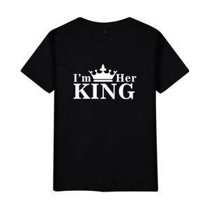 Camiseta Diseñador T White New Mens New T Shirts Carteles Cross-frontera Pares de rey Reina Ropa Modelos Moda Camiseta de manga corta CL VKTE