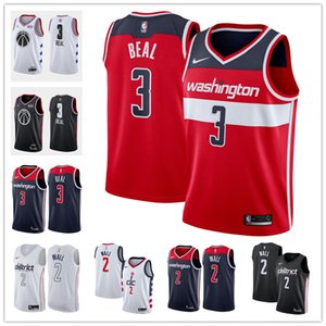 personalizadasnbamulheres jovens de homens washingtonAssistentes 3 Bradley Beal 0 Gilbert Arenas Branco Vermelho Azul Throwback Basketball Jersey