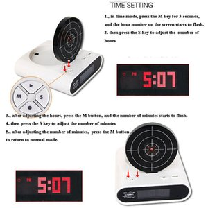 Creative Lcd Screen Target Electronic Toy With Backlight Student Alarm Clocks Toy Novelty Lazy People Table Clocks
