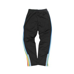 European and American tide brand rainbow ribbon trousers angel casual fashion white hit casual trend sports sweatpants