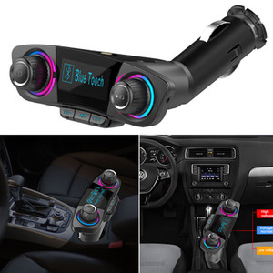 Smart charge Transmetteur FM Audio voiture Kit mains libres Bluetooth double USB Chargeur Lecteur MP3 Modulator BT06 # 0128