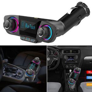 Smart Charge FM Transmetteur Audio Voiture Handfree Kit Dual USB Bluetooth Charger Modulateur de lecteur MP3 BT06 # 0128