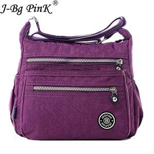 J-BG PEMBE Kadın Haberci Çanta Naylon Çanta Omuz Çanta çanta Ünlü Markalar Tasarımcı Crossbody Çanta Kadın Bolsa ana kesesi Y190606