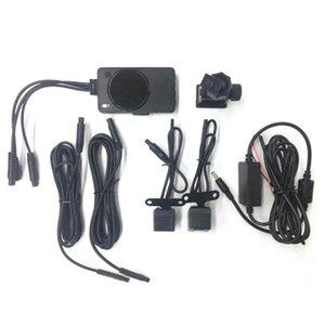 Painel Dual Lens traço Cam Easy Install Wide Angle LCD Driving gravidade Sensing motocicleta carro prático de detecção de movimento