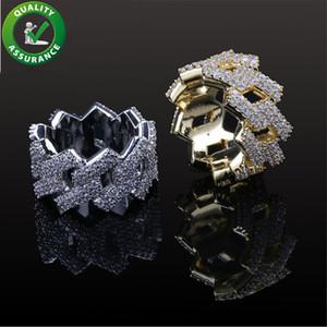 Anéis de noivado de jóias de hip hop conjuntos de casamento designer de luxo diamante anel de amor gelado out anel de ouro estilo pandora encantos mens acessórios