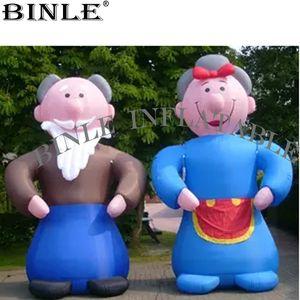 3.6m evento pubblicità palloncino gonfiabile Abramo e Sara Holand vecchia coppia cartoni animati per Olanda