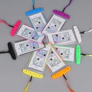 Universal Para iphone X XS MAX 6 7 8 Samsung S10 S9 impermeável prova caso saco CellPhone água malotes Dry Bag com cordão