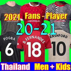 Tailandia 18 19 20 camisetas de fútbol manchester united MAN utd 2019 2020 marcial RASHFORD POGBA LINGARD kit de fútbol camiseta MARTIAL BISSAKA camiseta