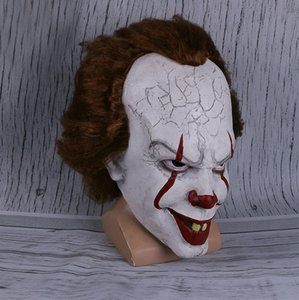 2019 Movie Stephen King's It Pennywise Clown Joker Mask Tim Curry Mask Cosplay Halloween Party Props Mask BJ0608