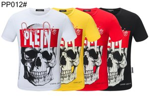 Hombre del diseñador de moda Camisetas para hombre Ropa de Calle 2020 ocasional del verano camiseta del remache mezcla de algodón con cuello redondo de manga corta # C11