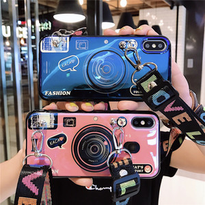 Ретро камеры телефона чехол для iPhone SE 2 11 Pro Max X Xs Max ХГ Симпатичные игрушки Силиконовый чехол для iPhone 7 8 Plus 6S 6 С талреп