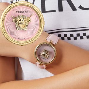 Avec la boîte New Arrival Rose Bracelet Fille Femmes Montres Sport Mode Robe en cuir Quartz Femmes Lady horloge Femme Relógio Mesdames Montre