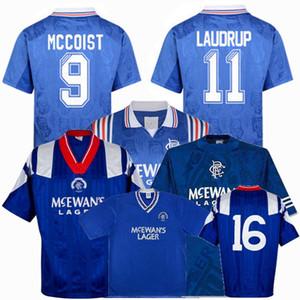 Ретро классических 1990 1991 1992 1994 1996 1997 Rangers трикотажных изделий футбола 92/94 96/97 Маккойст Лаудруп Гаскойн ретро футбола рубашка S-2XL