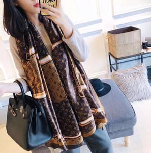 Nuovo 2019 desgin sciarpa di marca Silk per stile popolare sciarpe dell'involucro lunga delle donne 2019 della molla della moda 180x90cm scialli trasporto libero