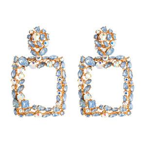 Hoop jóias de Brincos New Arrival Rhinestone Letters Marca Designer Brincos Mulheres Bling Moda Tassel Brinco de Luxo