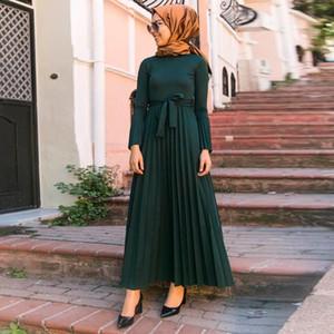 Ramazan Eid Mubarak Pilili Abaya Başörtüsü Müslüman Elbise Kaftan Dubai Kaftan Türk Elbiseler İslam Giyim Abayas Kadınlar İçin İslam