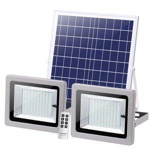 Doble luz de inundación luces principales Solar LED Spotlight 72leds 126LEDs 160LEDs 200LEDs Luz solar del paisaje al aire libre para la calle Jardín